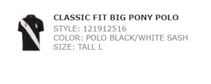 Ralph classic  fit big pony polo