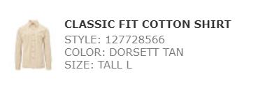 Ralph classic fit cotton shirt