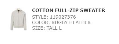 Ralph cotton full zip sweater